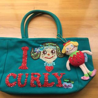 カーリーコレクション(Curly Collection)の美品 Curly  マスコット付きトートバック(トートバッグ)