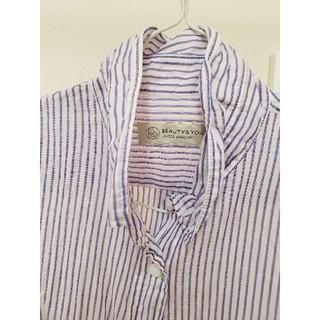 ビューティアンドユースユナイテッドアローズ(BEAUTY&YOUTH UNITED ARROWS)の美品♥beauty&youth 旅行の羽織に!ストライプシャツ(シャツ/ブラウス(長袖/七分))