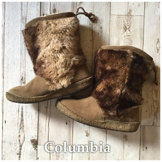 コロンビア(Columbia)のColumbia☆スエードファーブーツ 24cm(ブーツ)
