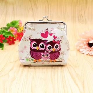 フクロウ財布 ふくろうがま口財布・小物入れ 新品未使用品 送料無料♪(001)(鳥)