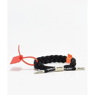 オフホワイト(OFF-WHITE)のOff-Clat Rastaclat Black off-white(ブレスレット)