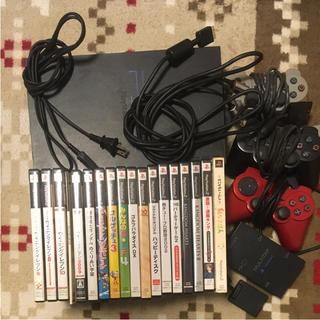 プレイステーション2(PlayStation2)のプレイステーション2本体+ソフト他セット(家庭用ゲーム本体)