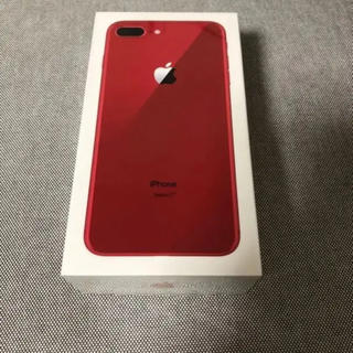 アイフォーン(iPhone)の未開封 iphone 8 plus 64 Gb RED SIM フリー(スマートフォン本体)