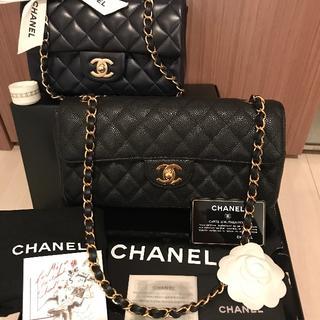 CHANEL - 極美品 CHANEL シャネル キャビアスキン チェーン ショルダーバッグ