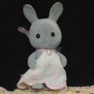 シルバニア グレーウサギ 赤ちゃん(キャラクターグッズ)