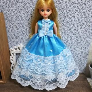 リカちゃんの服② ハンドメイドドレス(人形)