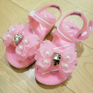 プリンセス リボン ジェル サンダル ガラスの靴 24(14.5cm)(サンダル)