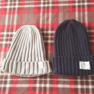 ジーユー(GU)のGU🌸ニット帽 2点セット(ニット帽/ビーニー)