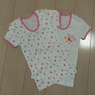 シマムラ(しまむら)の女の子用 3分袖スリーマー【新品・2枚組】 130サイズ(下着)