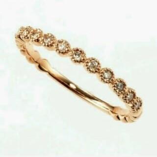アガット(agete)の【美品・廃盤品】agete ダイヤモンド フリルリング ピンキーリング(リング(指輪))