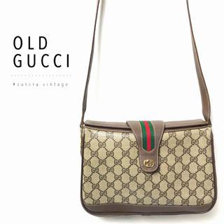 Gucci - 良品‼︎粉吹き無し‼︎◆オールドグッチ シェリーライン×GG柄ヴィンテージバッグ