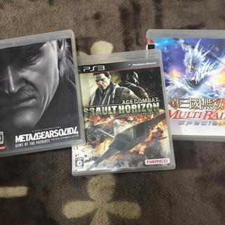 プレイステーション3(PlayStation3)のPlayStation3ソフト3本 メタルギア4/エースコンバット/三國無双(家庭用ゲームソフト)