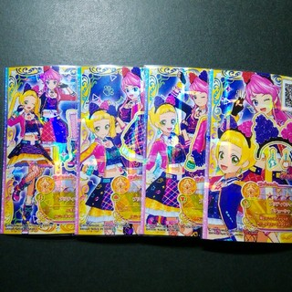 アイカツスターズ(アイカツスターズ!)のアイカツフレンズ☆プリティキティ4枚セット☆(シングルカード)