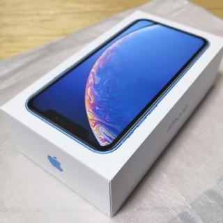 アイフォーン(iPhone)の新品未使用 iPhoneXR 64GB blue SIMロック解除済み(スマートフォン本体)