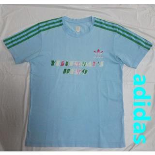 アディダス(adidas)のadidas originalsトレフォイル3ラインTシャツS水色ブルー(Tシャツ/カットソー(半袖/袖なし))