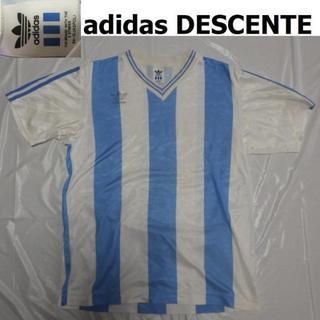 アディダス(adidas)のレア90s三つ葉アディダス(デサント)アルゼンチン ユニフォームLゲームシャツ(Tシャツ/カットソー(半袖/袖なし))