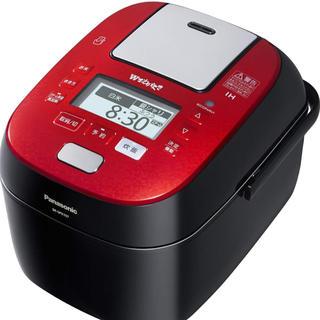 パナソニック 5.5合 炊飯器 圧力IH式 Wおどり炊き ルージュブラック(炊飯器)