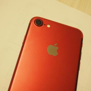アップル(Apple)のiPhone7 レッド 128GB 美品(スマートフォン本体)
