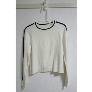 ジーユー(GU)のGU セーター 白に黒ライン(ニット/セーター)