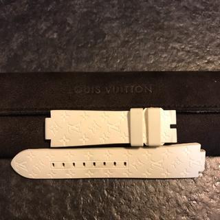 ルイヴィトン(LOUIS VUITTON)のLOUIS VUITTON 腕時計 ラバーベルト(白)(ラバーベルト)
