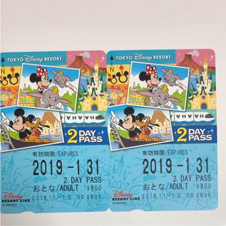 ディズニー(Disney)のリゾートライン 2day(鉄道乗車券)