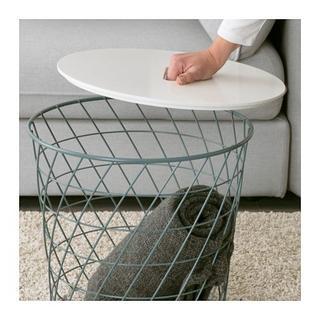 イケア(IKEA)の12月特別価格:大幅値引き★収納付きテーブル◆サイドテーブル(ターコイズ)(コーヒーテーブル/サイドテーブル)