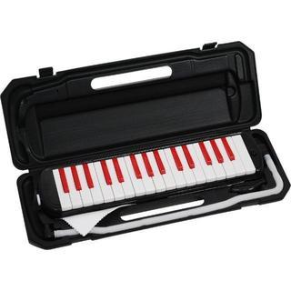 【即日発送!】鍵盤ハーモニカ メロディーピアノ(ブラック&レッド)