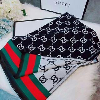 Gucci - GUCCI スカーフ カシミヤ100% マフラー 男女兼用