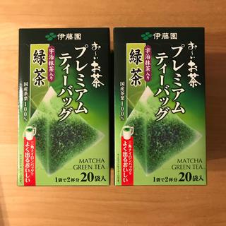 イトウエン(伊藤園)のおーいお茶 プレミアム ティーバッグ 宇治抹茶入り緑茶 2箱(茶)