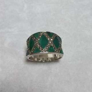 アンティーク調 天然石シルバーリング 16号(リング(指輪))