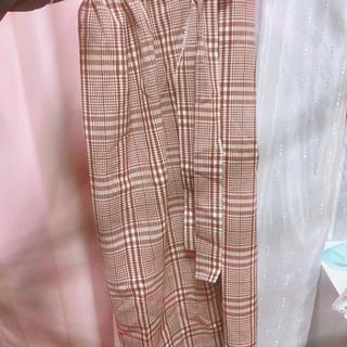 ジーユー(GU)のチェック柄 膝下丈 タイトスカート (ひざ丈スカート)