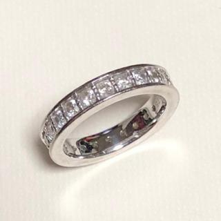 Veretta8va ホワイトゴールド k18 フルエタニティリング ダイヤ(リング(指輪))