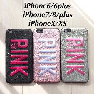 PINKの刺繍ロゴが可愛い♡iPhoneケース