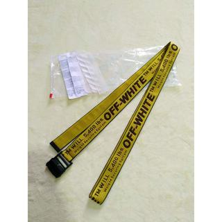 OFF-WHITE - 中古美品:オフホワイト ベルト イエロー 200センチ