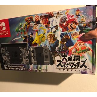 ニンテンドースイッチ(Nintendo Switch)の【新品】12/9 即日発送!大乱闘スマッシュブラザーズ SPECIAL セット(家庭用ゲーム本体)