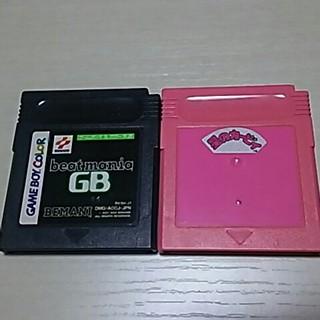 ゲームボーイ(ゲームボーイ)のゲームボーイソフト 2本 アクション 音ゲー(携帯用ゲームソフト)