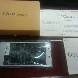 エーユー(au)のSIMフリー新品未使用 au Qua Phone KYV 37  判定○ブルー(スマートフォン本体)
