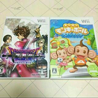 ウィー(Wii)のWiiソフト スーパーモンキーボール アスレチック・ドラゴンクエストソードセット(家庭用ゲームソフト)