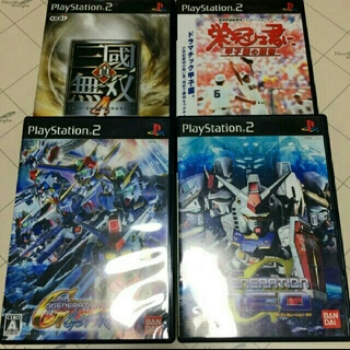 プレイステーション2(PlayStation2)のジャンク PS2ソフト 4本セット(家庭用ゲームソフト)