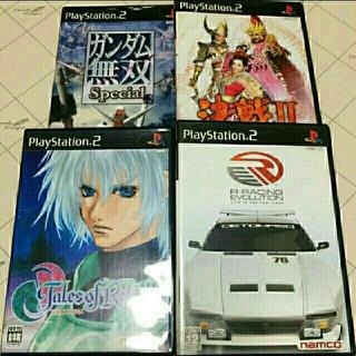プレイステーション2(PlayStation2)のPS2ソフト 4本セット(家庭用ゲームソフト)