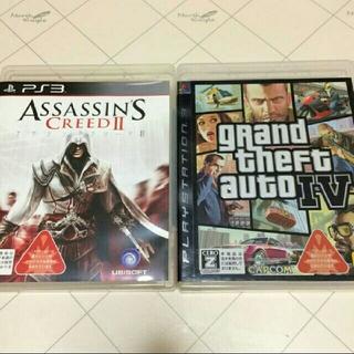 プレイステーション3(PlayStation3)のPS3ソフト アサシングリードⅡ・グランドセフトオートⅣ 2本セット(家庭用ゲームソフト)