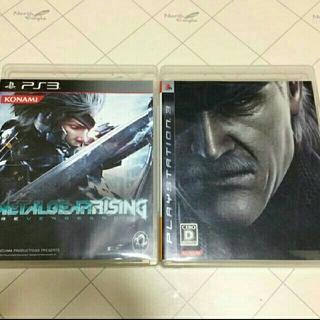 プレイステーション3(PlayStation3)のPS3ソフト メタルギアソリッド4・メタルギアライジング 2本セット(家庭用ゲームソフト)