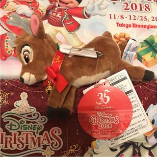 ディズニー(Disney)の販売終了品 新作 ディズニー☆クリスマス 2018 トナカイ ぬいぐるみ バッジ(キャラクターグッズ)