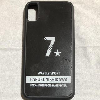 ホッカイドウニホンハムファイターズ(北海道日本ハムファイターズ)のウェイリー 西川遥輝 iPhoneX ケース(スポーツ選手)