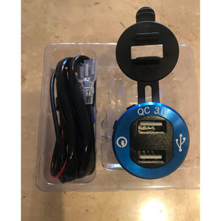USBカーチャージャー 急速充電 2.1A電源ライン 配線取り付ける物 2USB(車内アクセサリ)