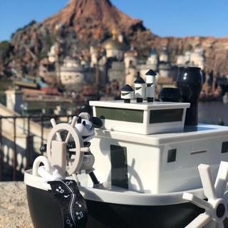 ディズニー(Disney)のディズニーリゾート限定 蒸気船ウィリー ポップコーンバケット(模型/プラモデル)