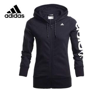 adidas - アディダス レディース パーカー Mサイズ ビックロゴ  ブラック ジャージ