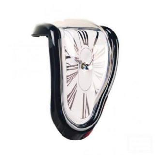 ダリ風 柔らかい時計 置き時計 黒色 ブラック