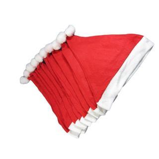 クリスマス サンタ 帽子 コスプレ 衣装 10枚セット(その他)