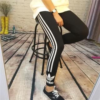 アディダス(adidas)の即発!新品  スポーツ/レギンス 片ロゴ 黒(レギンス/スパッツ)